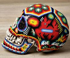 Huichol art #dayofthedead #Mexico