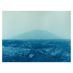 La Gran Calima - volcano and lava Prussian Blue, Cyanotype, Paper Dimensions, Canary Islands, Volcano, Black And White Photography, Lava, The Help, Ocean