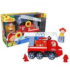 CAILLOU, le camion de pompier, très bien coté. 23.99$ Disponible en boutique à Saint-Sauveur, ou en ligne à info@laboiteasurprisesdenicolas.ca