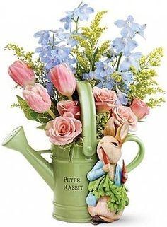 peter rabbit flower display - Google Search