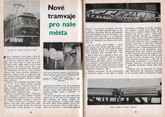 """1964 - """"New trams for our cities"""" - a contemporary report on the first years of operation of trams Railroad Pictures, Train Art, Nasa, Event Ticket, Trains, Cities, City, Train"""