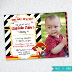Pirate Party Invitation / Pirate Birthday Party Invitation #pirateinvitation #pirateparty #piratebirthday