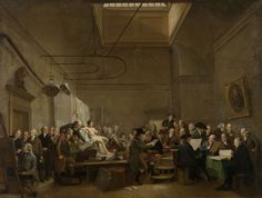 Adriaan de Lelie | 1801 | The Drawing Gallery of the Felix Meritis Society