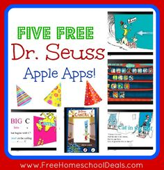 Technology in the classroom activities: Seuss activities: Five (currently FREE) Dr. Seuss apps for Apple iPhone and iPad.