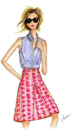 Anum Tariq Fashion Illustration -   J. Crew