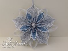 Christmas Decoration, using Stampin Up Ornament Keepsakes, and Winter Frost paper. YouTube tutorial I followed is here - http://youtu.be/SjILOVnGtho