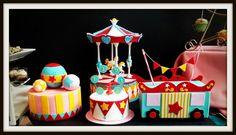 Cute circus/carnival themed cake