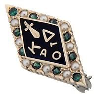 Need to pull my badge out of storage, it is so pretty.  Emeralds, diamonds & pearls.  Want to wear it as a ring