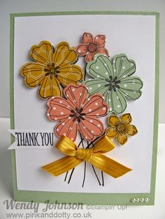Pink and Dotty: Flower Shop Stamp Set & Petite Petals yet again!