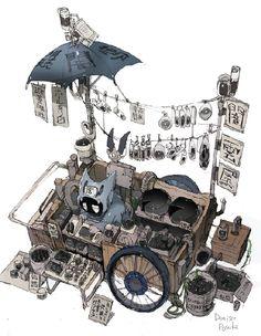Art by 出水ぽすか Demizu Posuka Illustrations, Illustration Art, Prop Design, Environment Concept Art, Animation, Character Design Inspiration, Fan Art, Art Inspo, Amazing Art