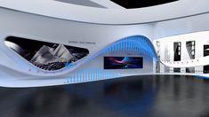CMCC EXHIBITION.2017 on Behance Museum Exhibition Design, Exhibition Booth, Exhibition Space, Mobile Shop Design, Trade Show Design, Hotel Lobby Design, Nurses Station, Futuristic Interior, Ancient Greek City
