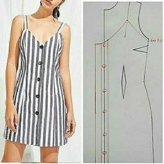 Simple Summer Outfits, Summer Dresses, Tailoring Techniques, Vestido Casual, Crochet Shoes, Dress Sewing Patterns, Couture, Sewing Crafts, Ideias Fashion