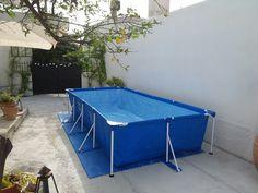 Piscina Swiming Pool, Small Swimming Pools, Small Backyard Pools, Diy Pool, Small Pools, Above Ground Pool Decks, In Ground Pools, Piscina Intex, Cheap Pool