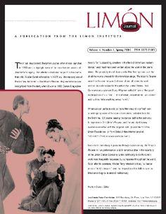 Limon Journal vol 4.1 Spring 2001