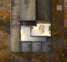 This map is from the Rise of the Runelords adventure path, Chapter Two: The Skinsaw Murders. It was created in Photoshop and features object files dundjinni.com user's forums and textures fro...