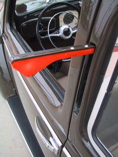 Rojo Stitch 2x Puerta Exterior Trim Cubiertas De Cuero Para Bmw Mini Cooper uno S 01-06