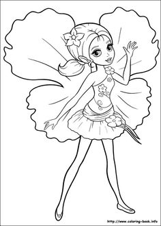 Barbie Thumbelina coloring picture