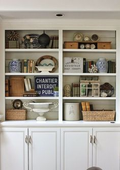 bookcase styling via @Jill Meyers Meyers Meyers Hinson