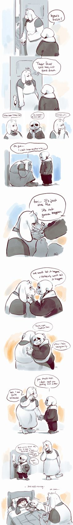 Toriel and Sans #comic
