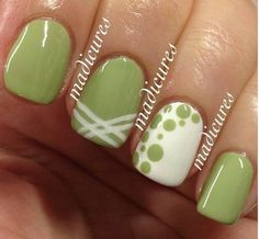 Cute design latest nail art designs gallery nail designs for short nails 2019 nail stickers walmart best nail stickers nail art strips nail designs designs for short nails step by step nail art stickers online nail art stickers at home essie nail stickers Nail Art Designs, Fingernail Designs, Green Nail Designs, Green Nails, Green Nail Art, Creative Nails, Manicure And Pedicure, Manicure Ideas, Pedicures