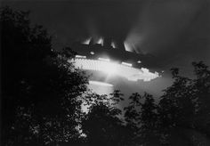 UFO pictures  Very clear UFO picture.  Light can be seen eminating from the UFO windows and undercarriage.
