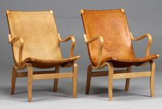 Furniture Classic: Bruno Mathsson - 'Eva' Lounge Chair [Bent Birch Wood & Leather] - Produced by Karl Mathsson Scandinavian Chairs, Scandinavian Design, Nursing Chair Uk, Best Chair For Posture, Kids Hanging Chair, Mushroom Chair, Vintage Furniture Design, Home Office Chairs, Cool Chairs