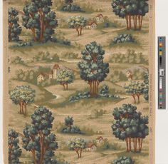 Wallpaper | Becker, Smith & Page (Manufacturer) | 2001.281.1171 -- Historic New England