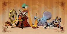 Crafting with Otto print by Brian Kesinger