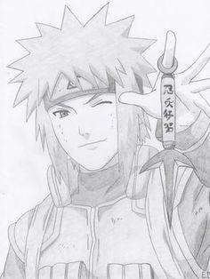 Minato Namikaze by Antylopa Naruto Sketch Drawing, Naruto Drawings, Anime Drawings Sketches, Anime Sketch, Sasuke Drawing, Naruto Uzumaki Shippuden, Minato Y Naruto, Boruto, Anime Naruto