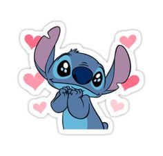 Loving stitch Sticker Liebevoller Stich-Aufkleber The post Liebevoller Stich-Aufkleber & ? Snapchat Stickers, Phone Stickers, Cool Stickers, Funny Stickers, Printable Stickers, Angel Stitch, Stitch Drawing, Homemade Stickers, Cute Stitch