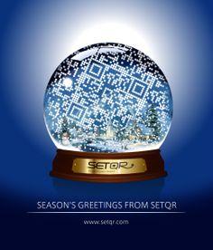 Season's Greetings from SETQR #QR #QRcode