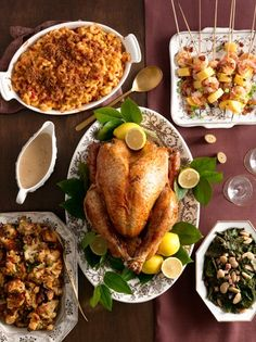 Go down home this Thanksgiving with a Southern-inspired menu that's full of great flavors.