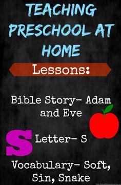 Adam and Eve lesson plan for preschool