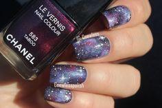 Galaxy nail art #nailart #space