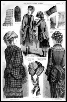 1881 Vintage Fashion Plates - The Young Ladies Journal No.42 | Flickr - Photo Sharing!