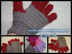in this tutiral I show you the easiest way to crochet gloves with fingers, Happy…