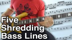 5 Shredding Bass Lines - Crank Up Your Speed With These Songs Bass Guitar Chords, Learn Bass Guitar, Double Bass, Guitar For Beginners, My Memory, Classical Music, Orchestra, Exercises, Sheet Music