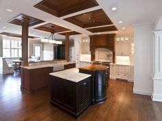 Ceiling treatment options... tricks to deal with post placement & uneven ceiling heights.