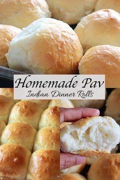 "Pav bread , a soft and fluffy dinner roll from Indian Subcontinent. In some parts of India, it's also known as ""Ladi Pav"". #pav #pavbread #ladipav Sweets Recipes, Indian Food Recipes, Fluffy Dinner Rolls, Pav Bhaji, Fusion Food, Good Healthy Recipes, Food Hacks, Yummy Treats, Baked Goods"