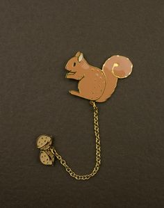 Squirrel Brooch by Modernaked on Etsy, $32.00