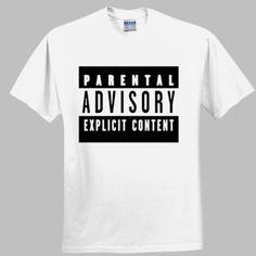 Parental Advisory funny t-shirt Parental Advisory, Funny Tshirts, Going Out, Tees, Music, Mens Tops, T Shirt, T Shirts, Tee