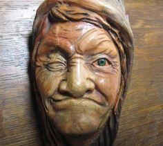 Wood Carved Tree Spirit