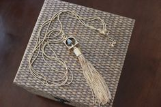 Stitch Fix February 2016 Romolo Canon Pyrite Tassel Necklace