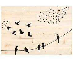 Flying Birds Fali dekoráció