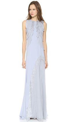 DYING Nina Ricci Sleeveless Gown