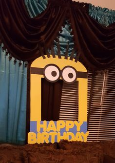 Minions birthday party photo booth