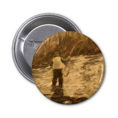 I'd rather be Fly Fishing!: Fly Fishing 2 Inch Round Button