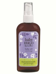 BabyHugo Baby Oil - Vanilla & Chamomile - 4 oz - Oil by Hugo Naturals. $12.99. Baby Oil - Vanilla & Chamomile Baby Hugo Naturals  We have crafted our baby line for the special needs of babys sensitive skin.  Our products contain gentle moisture-rich ingredients that clean, moisturize and  protect and are gentle enough for a newborn. Specially crafted for delicate  babies of all ages.  Like all of our products, our baby line is free of artificial fragrances,  colors, par...