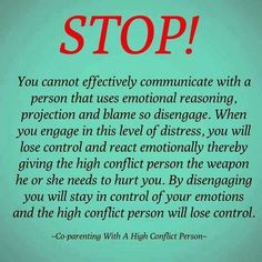 Co-parenting with a high conflict person #ToxicParenting #ParentingDivorce