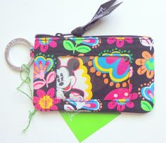 NWT VERA BRADLEY Disney ID Case Midnight with Mickey #VeraBradley #case